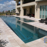 Long Custom Pool with Contemporary Style