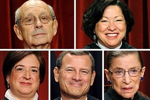 """Calling the mandate a """"tax"""" the Supreme Court upheld Obamacare on June 28, 2012 by a vote of 5-4."""