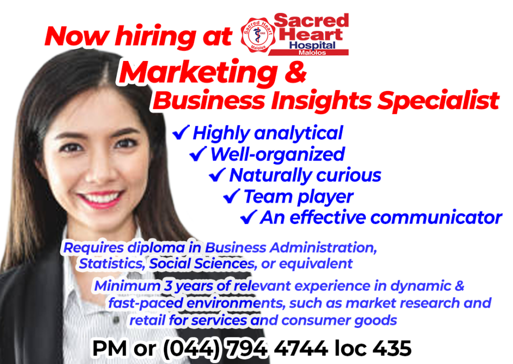 2021 0723 Hiring Marketing and Business Insights Specialist D