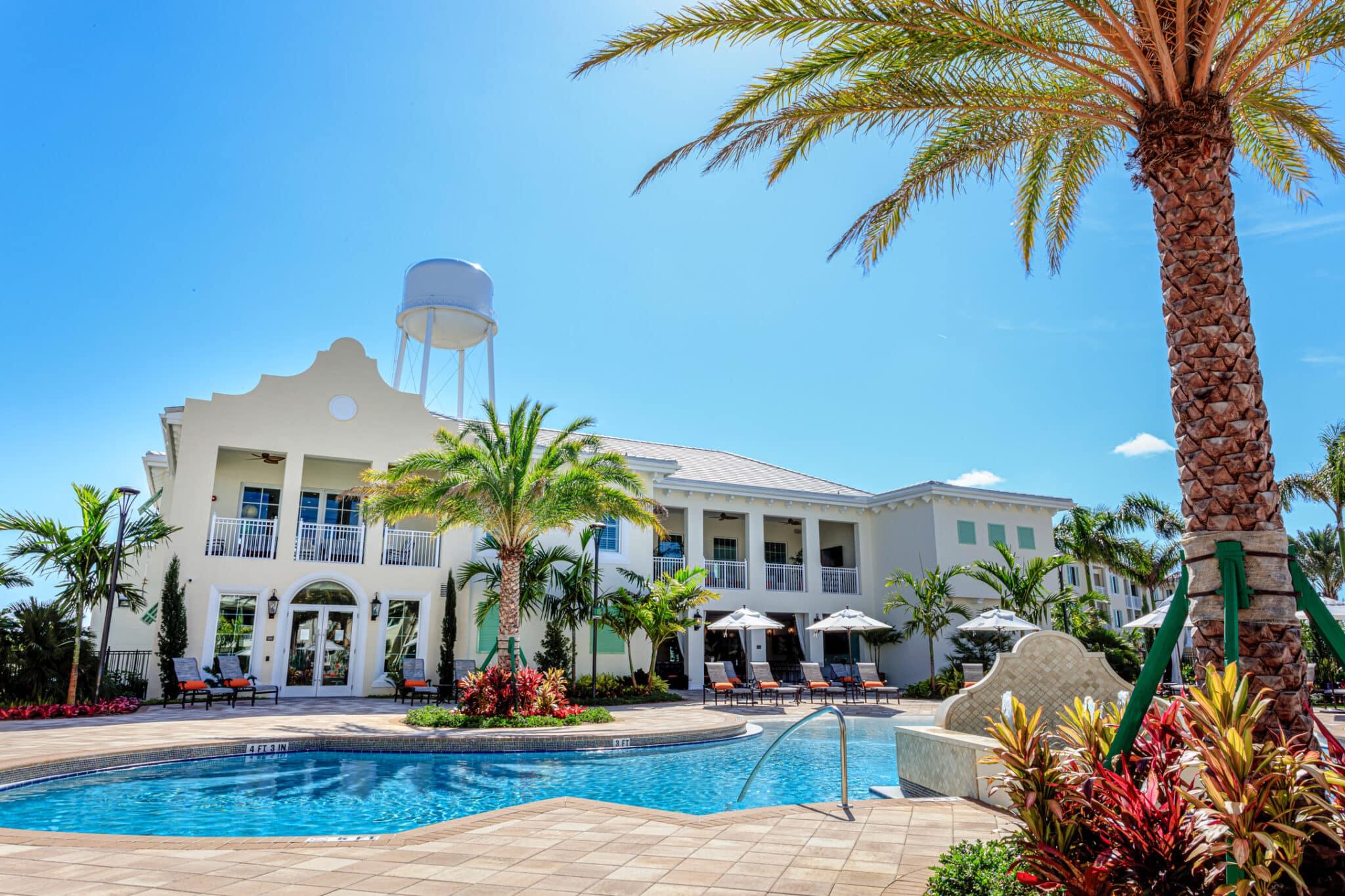 Water Tower Commons Ph I | Pool Area | Lantana, FL | Multifamily | Interior Designers
