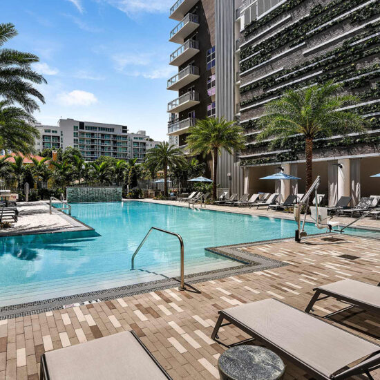 Blu 27 | Pool Area 3 | Miami, FL | Multifamily | Interior Designers