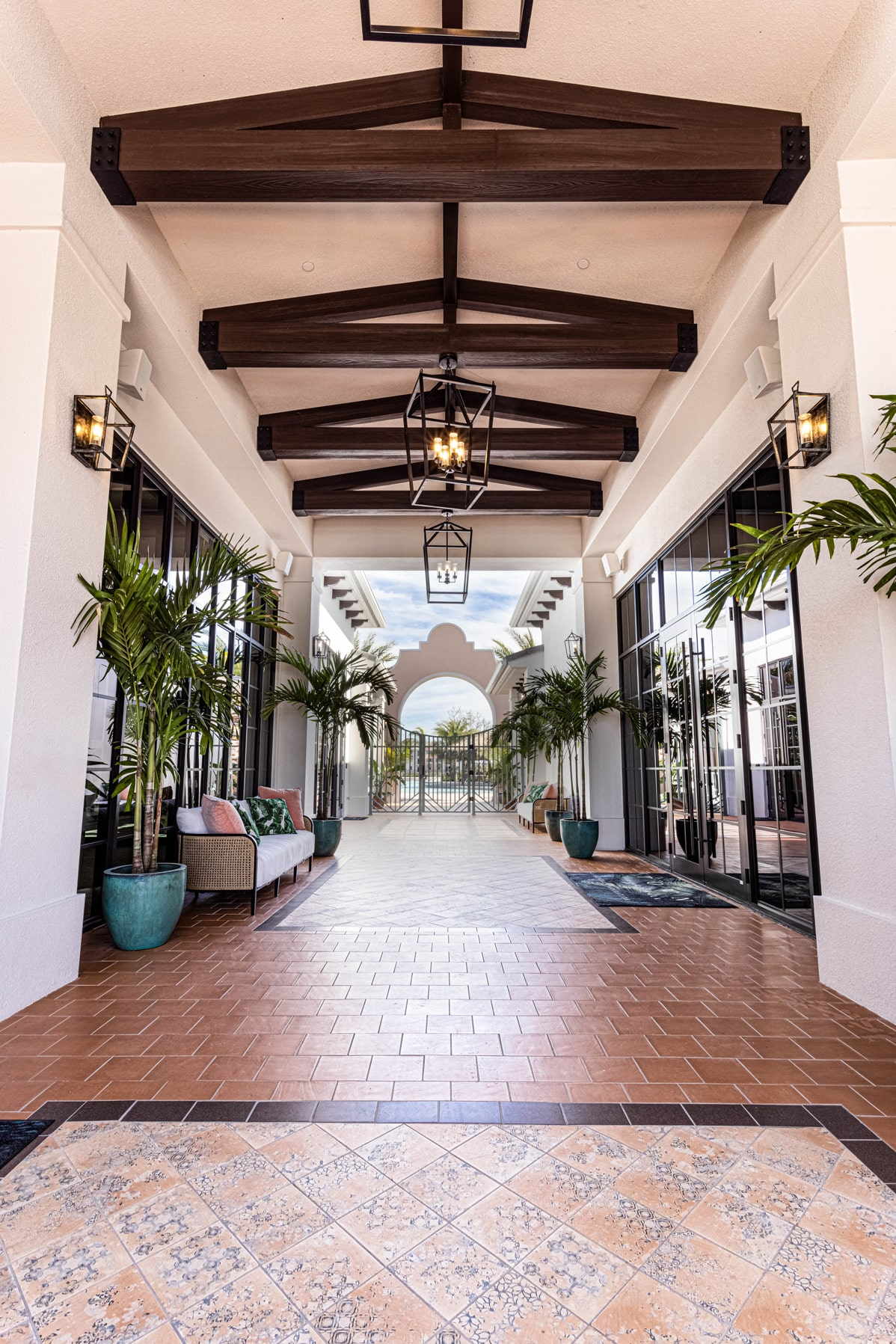 Town Village Walk | Entry | Fort Myers, FL | Multifamily | Interior Designers