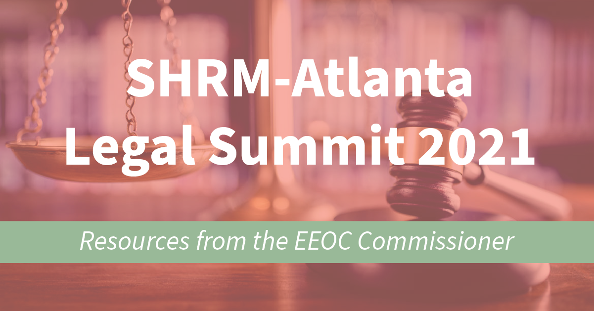 Resources from The EEOC Commissioner