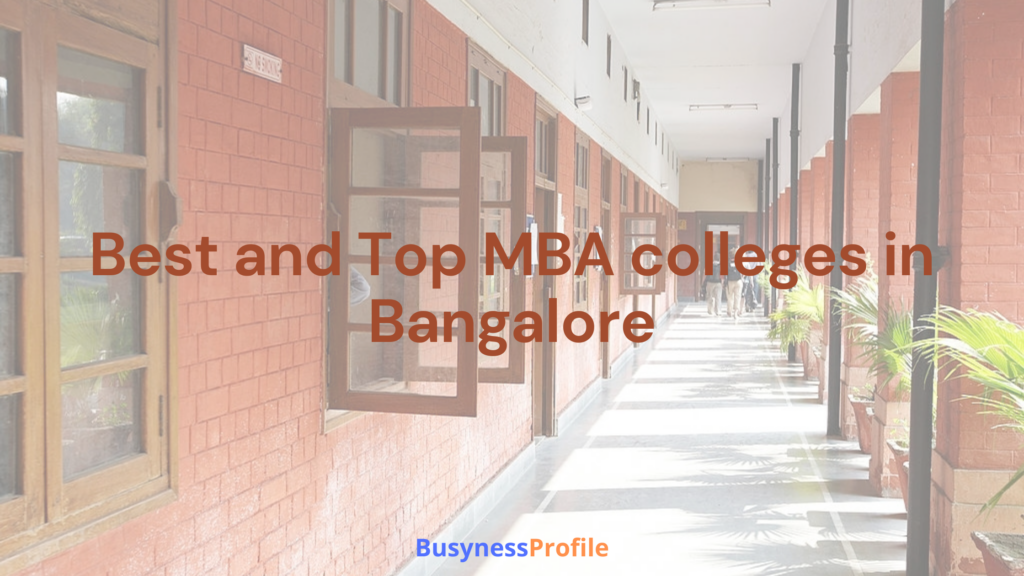 best and top MBA colleges in Bangalore