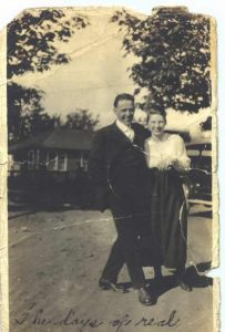 Jake Schomber and Minnie Wilson, circa 1917