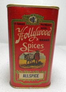 Hollywood Spice tin.