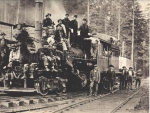 Preston Mill Co. Locomotive Crew