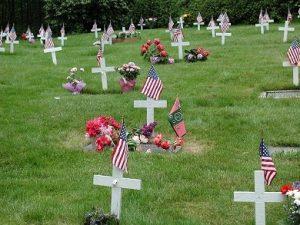 Veteran's Section at Hillside Cemetery