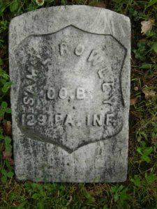 Samuel Rowley's grave in the GAR Cemetery, Seattle.