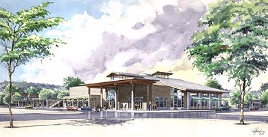 Issaquah's library, drawing