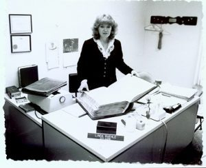 Linda Ruehle with City Ordinance Book