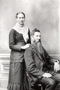Martha Stewart Bush and John Bush, circa 1870s