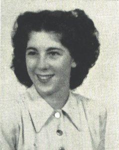 Donna Pedegana in her senior portrait, 1948.