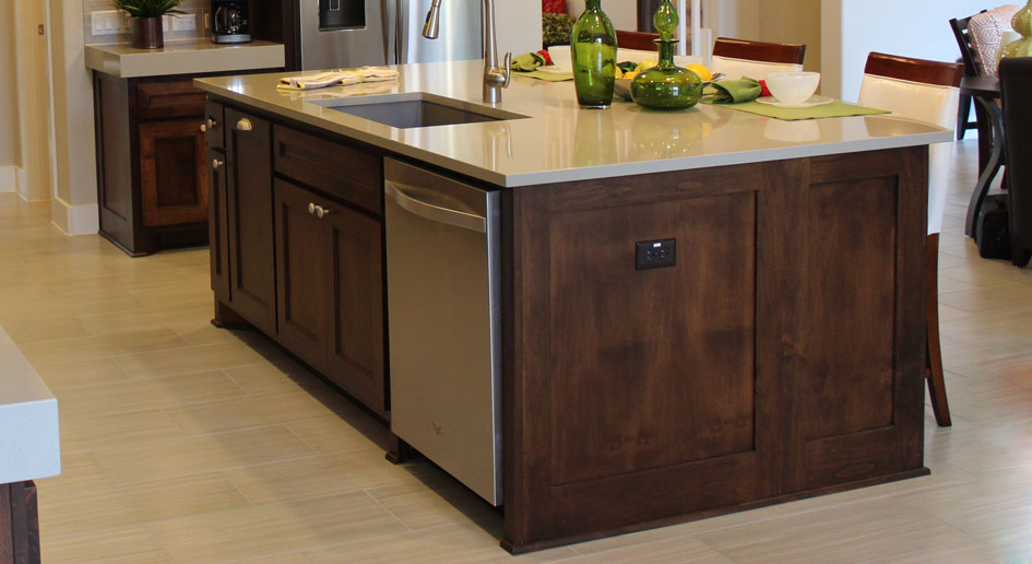 Kitchen island with Terrazzo doors by Burrows Cabinets