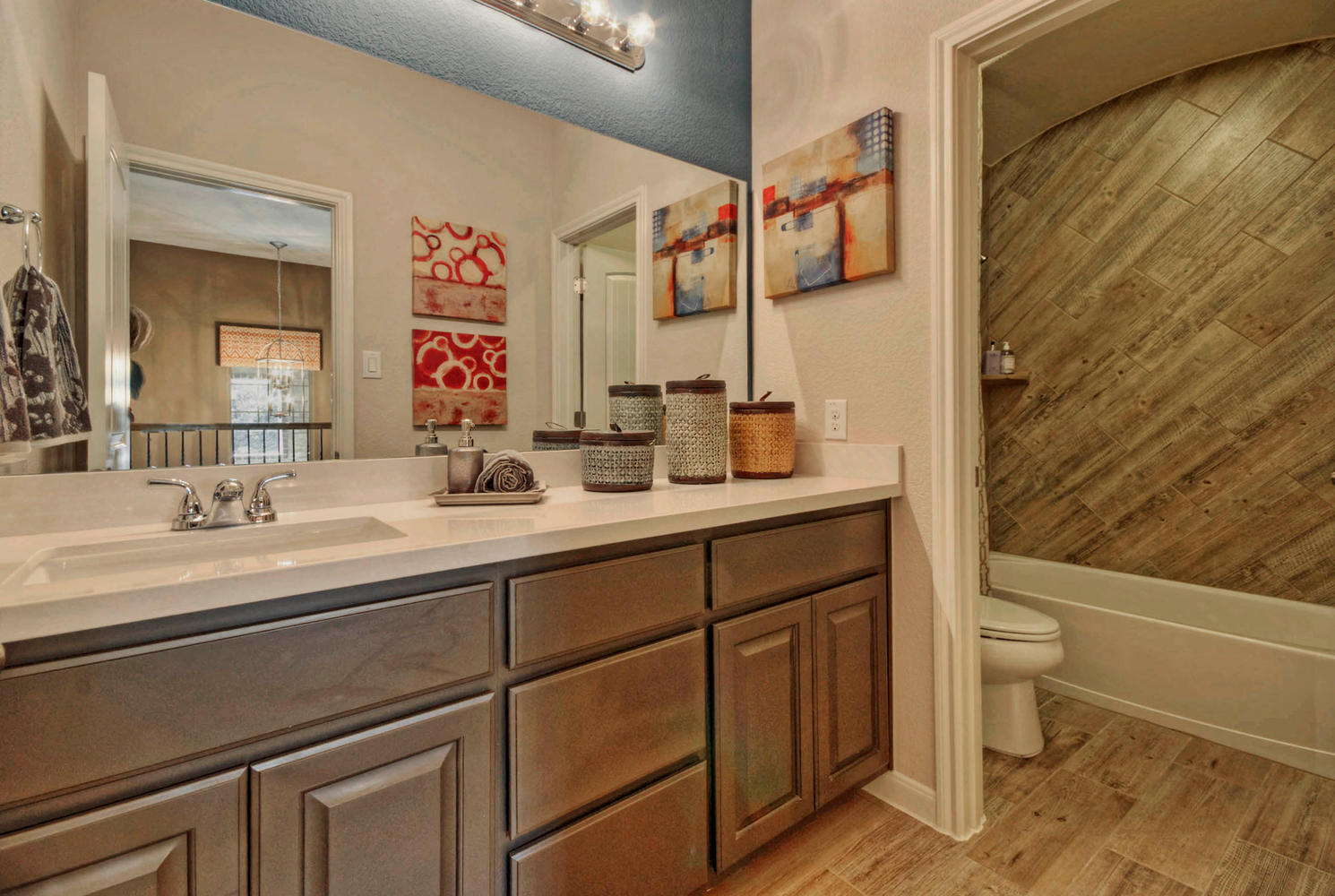 Secondary bath cabinets by Burrows Cabinets