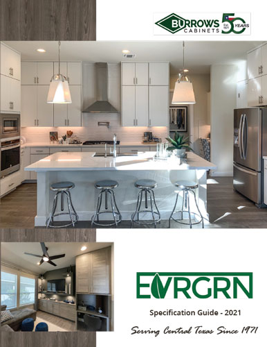 Burrows Cabinets Full Access EVRGRN Cabinet Spec Book