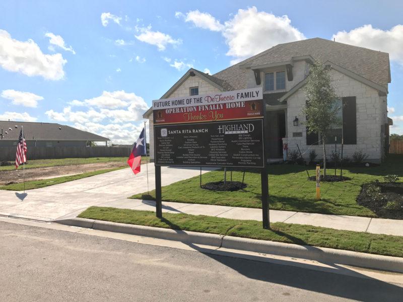 Operation Finally Home Santa Rita Ranch sign