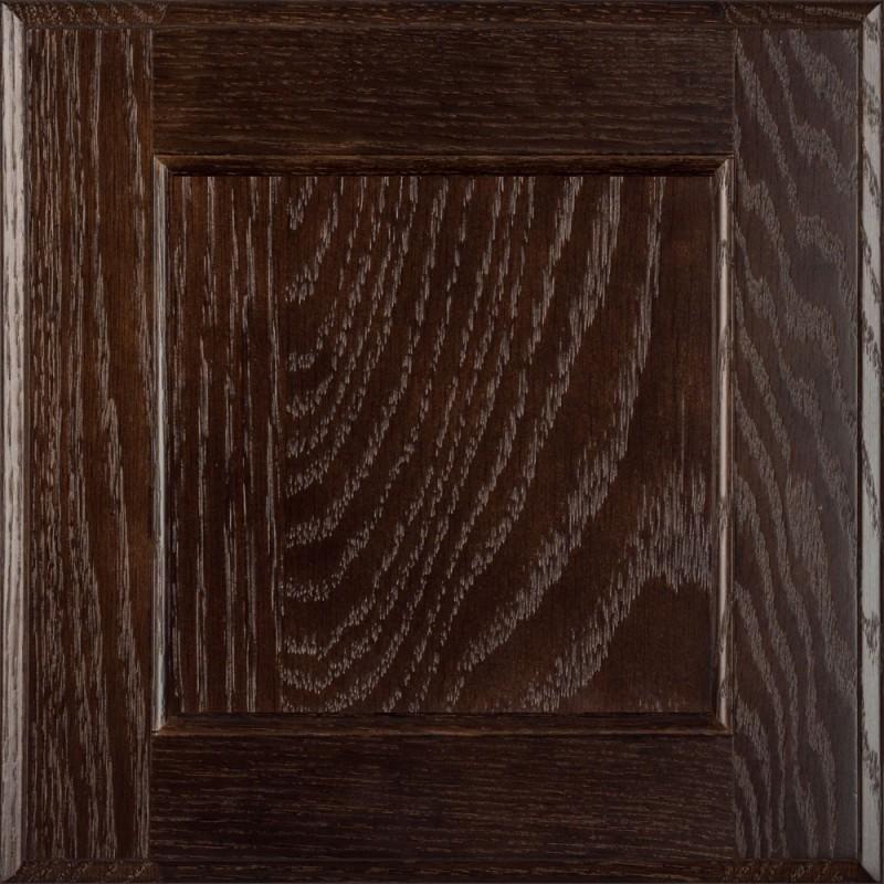 Burrows Cabinets flat panel door in Red Oak Kona