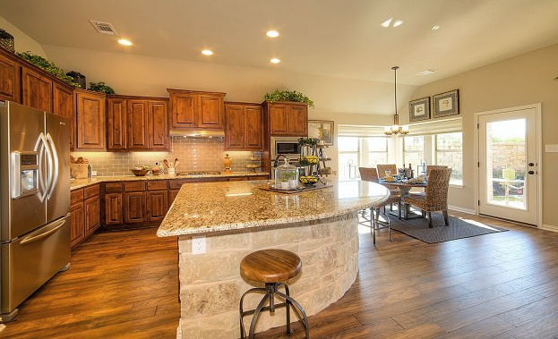 Kitchen in Knotty Alder by Burrows Cabinets