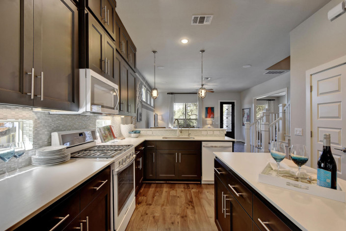 Burrows Cabinets' kitchen with Terrazzo doors in Bistre