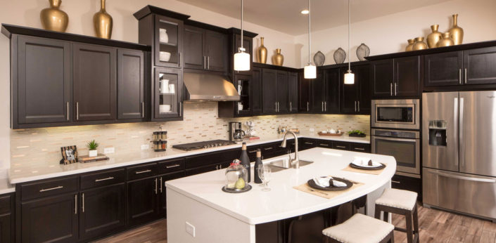 Kitchen with briscoe door in beech by Burrows Cabinets