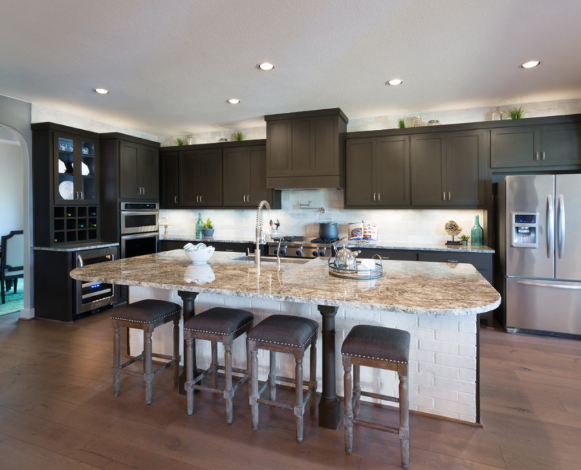 Burrows Cabinets' kitchen with shaker doors in Bistre