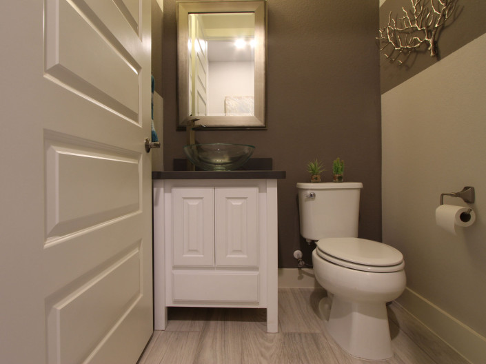 Burrows Cabinets' transitional powder room vanity