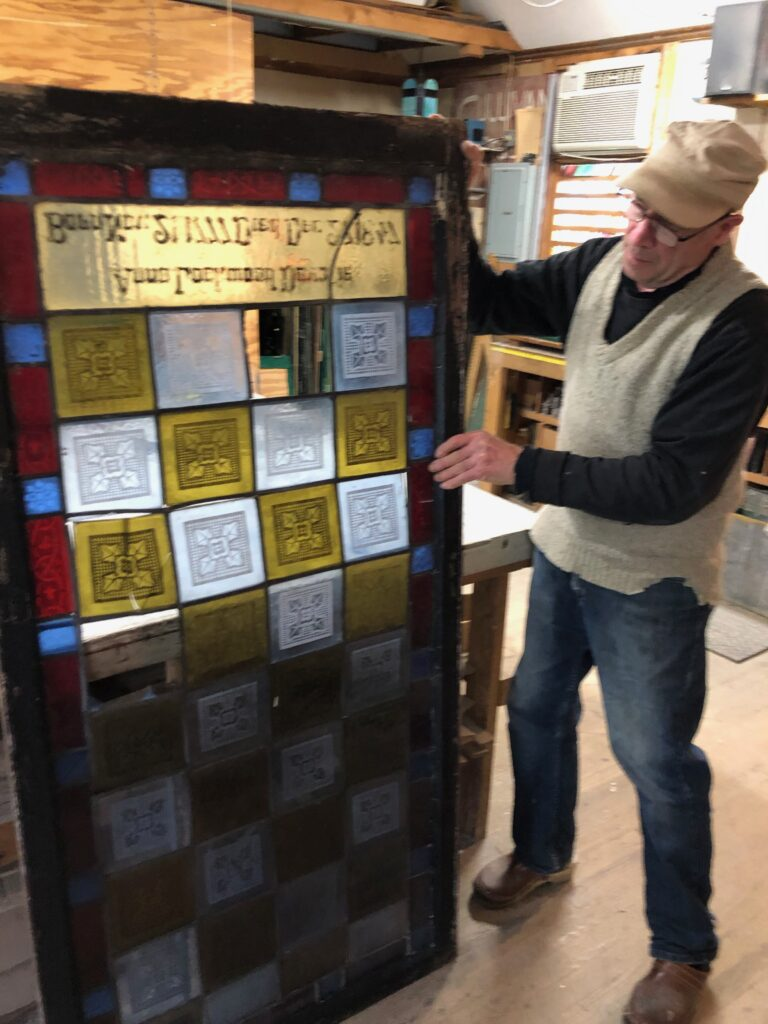 Journey of the first stained glass window