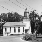 CIrca 1973 post-spire removal. Also note the larger side entrance, with front-facing door (which now faces the parking lot)