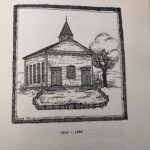 Sketch by Rose Miller Lenhart of 1839 renovation, opening in 1840.