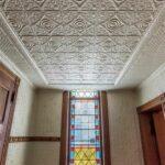 2017 Photo of vestibule tin ceiling