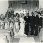 [1965] wedding photo from the collection of Jean Langford.