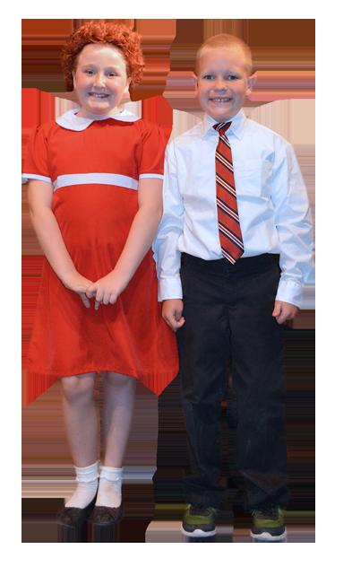 Annie and Daddy Warbucks