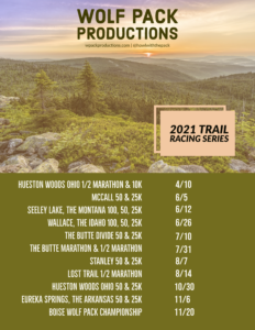 Wolf Pack Productions Race Schedule