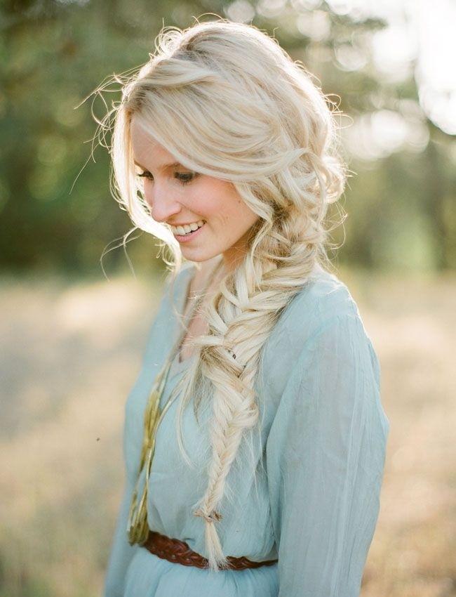 Fishtail long braid, braid updo, prom hairstyles, prom ideas 2016