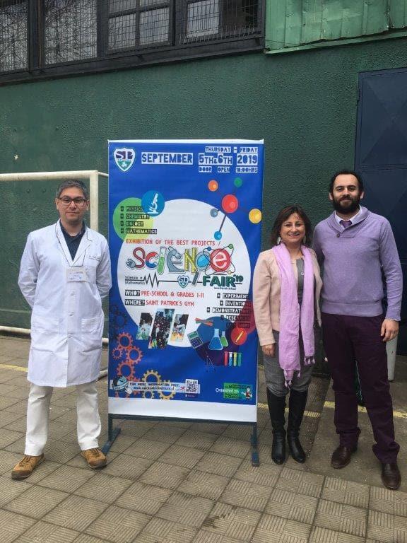Diego Leal, Profesor Biología, Lorena Cerna D. y Francisco Gonzales Profesor Física