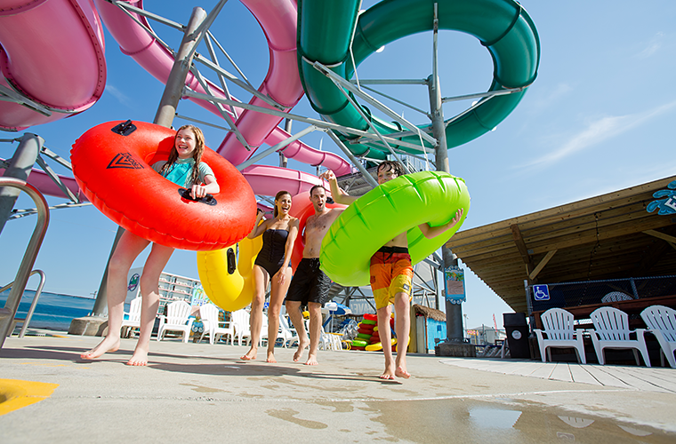 Splash Zone waterpark in Wildwood, NJ