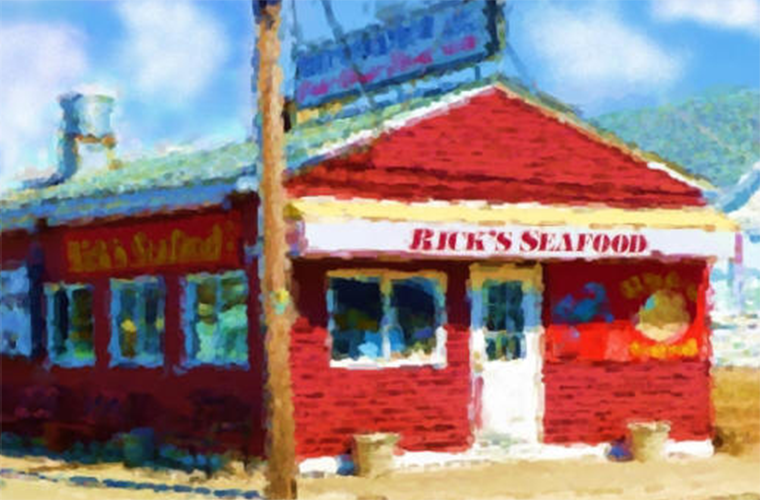 Rick's Seafood restaurant in Wildwood, NJ