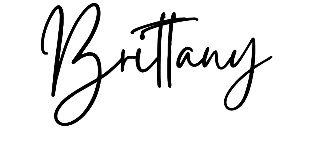 Brittany's signature
