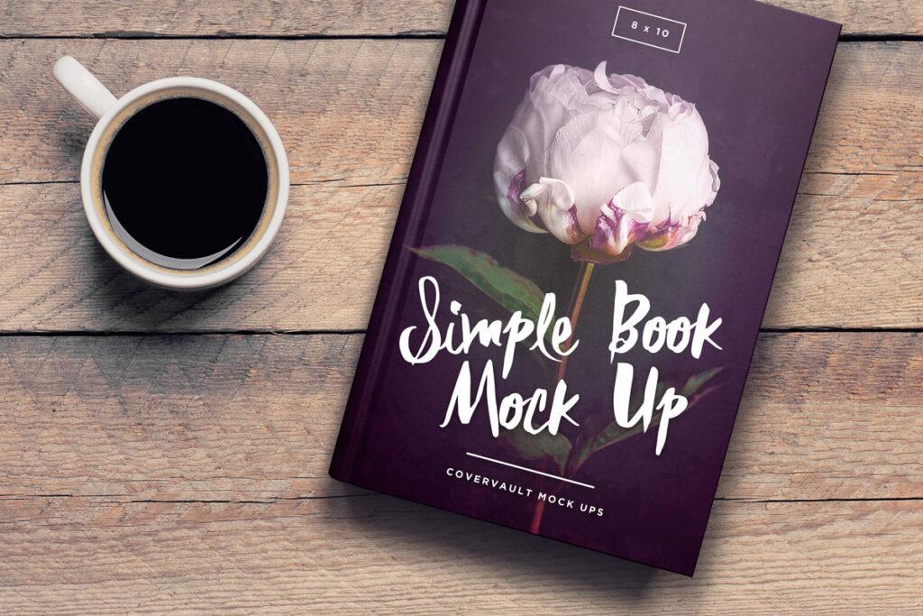 8 x 10 Coffee Table Book Mockup