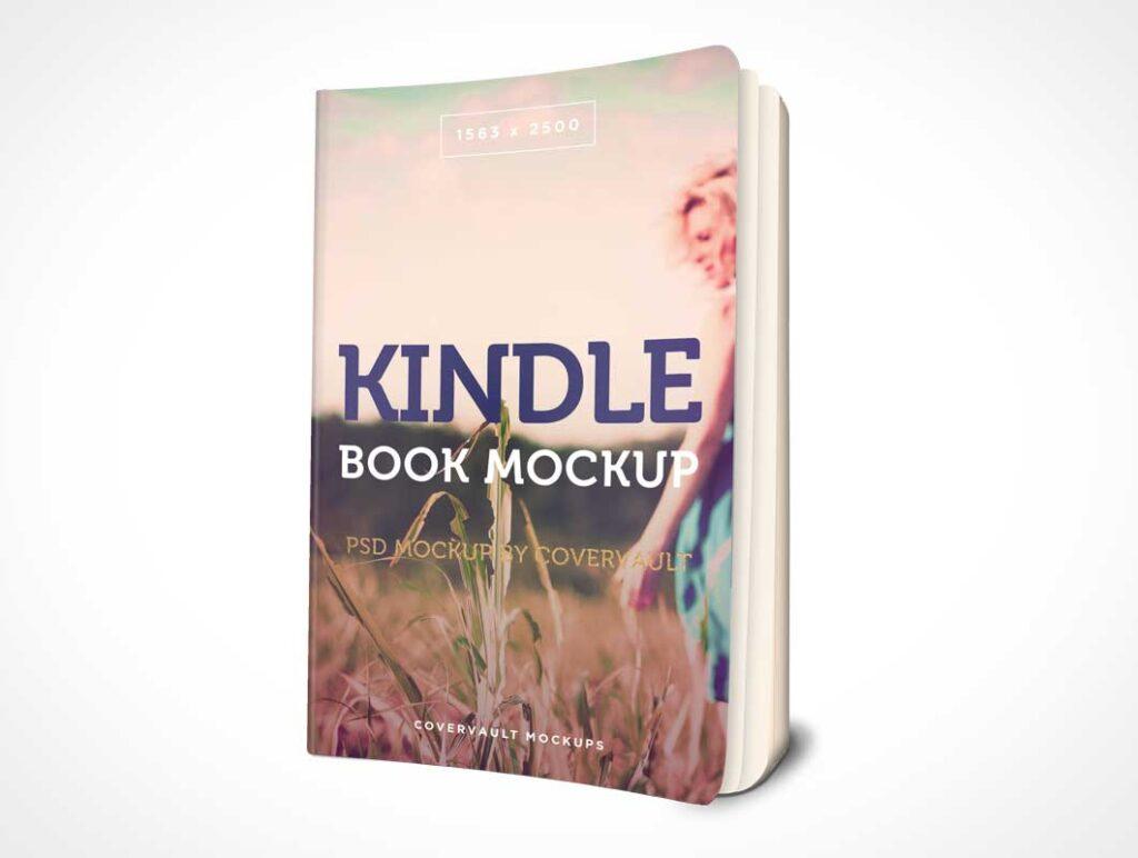 3D Kindle Paperback Book Mockup