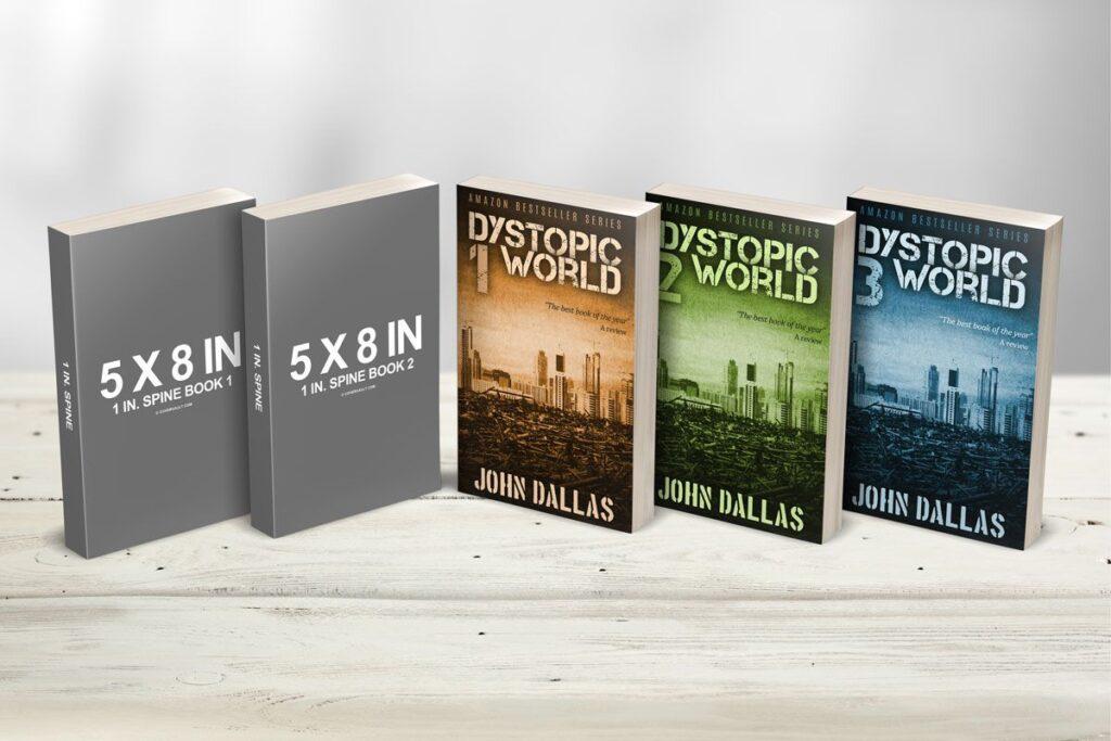Book Series Mockup 3