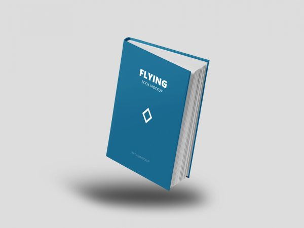3D Flying Book Mockup