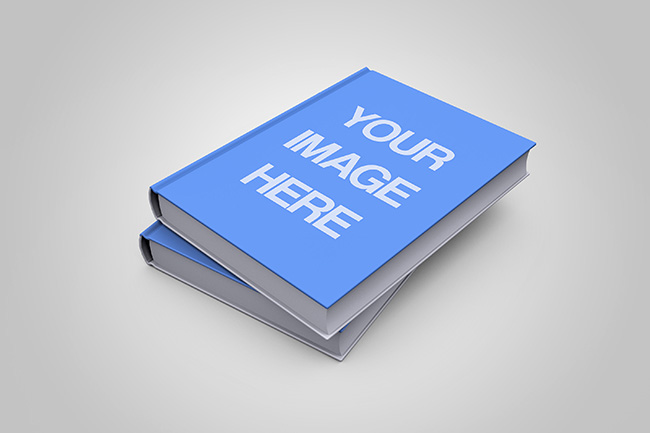 Stacked 3D Book Cover Mockup