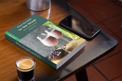 Book on Table with Phone