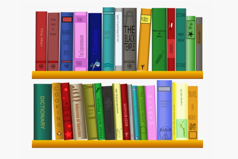 Books On Shelf Clipart