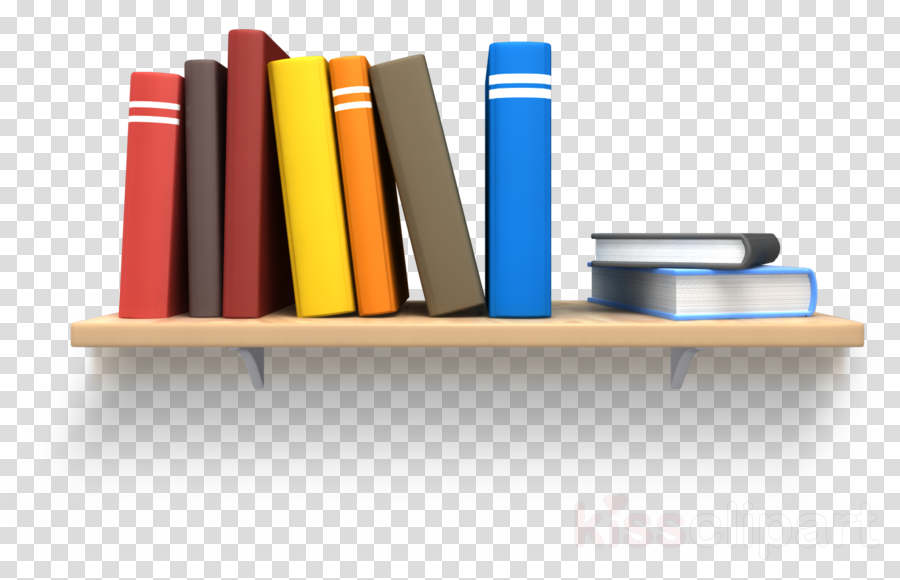 Clipart of Books on Shelf