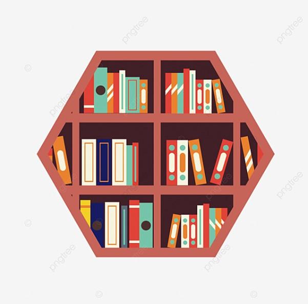 Polygon Bookshelf Clipart