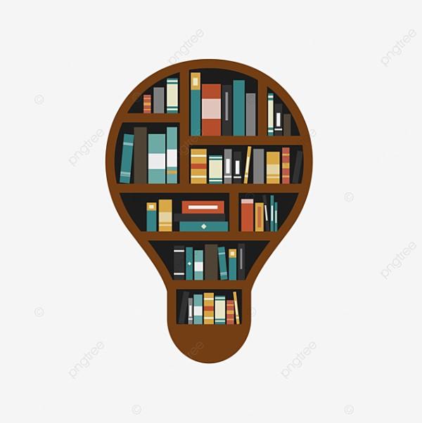 Bulb Shape Bookshelf Clipart