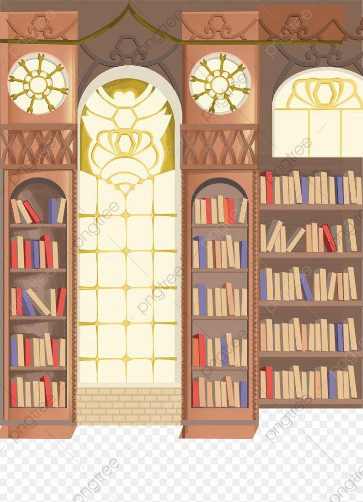 Library Bookshelves Clipart